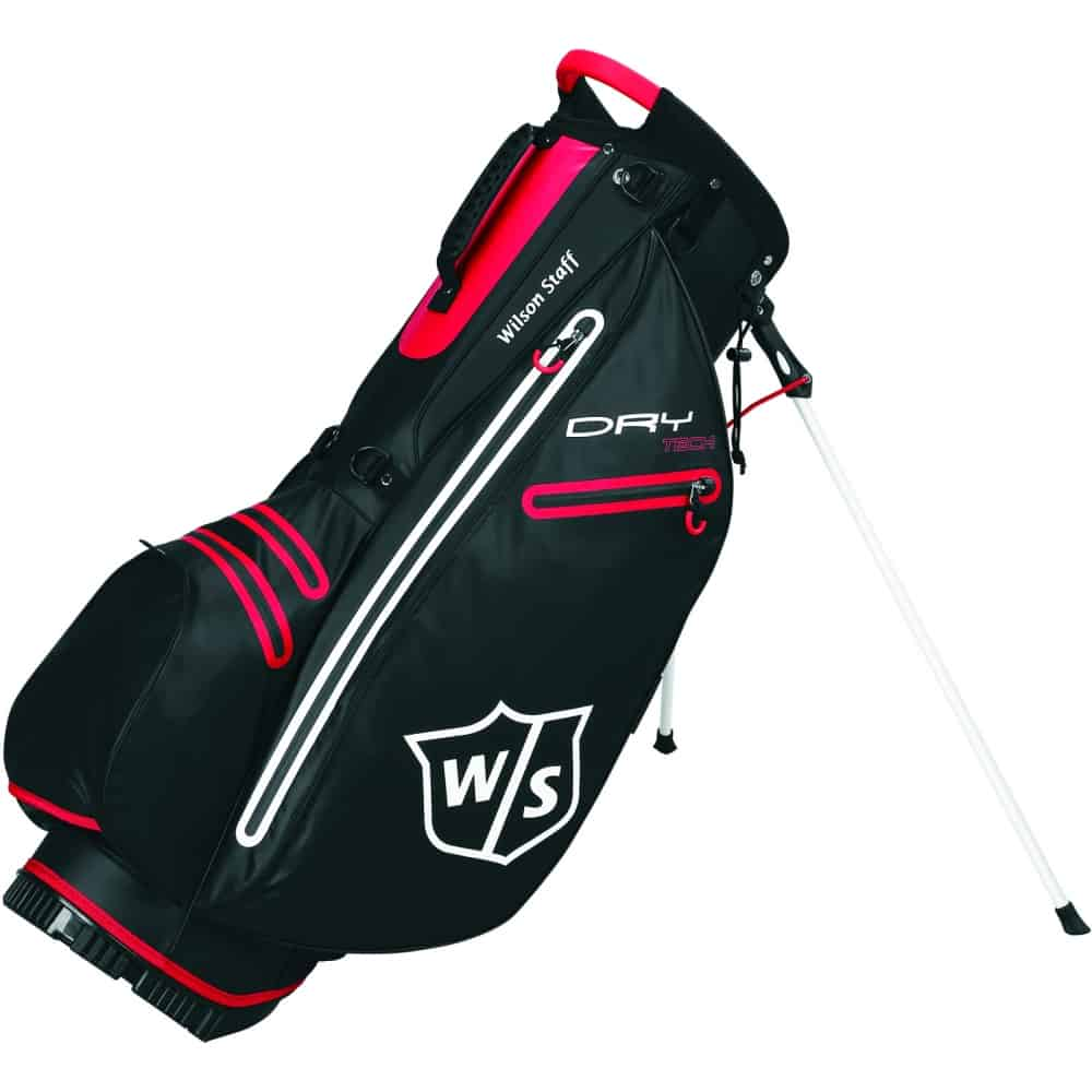 Wilson Staff Dry Tech Golf Stand Carry Bag Black Red