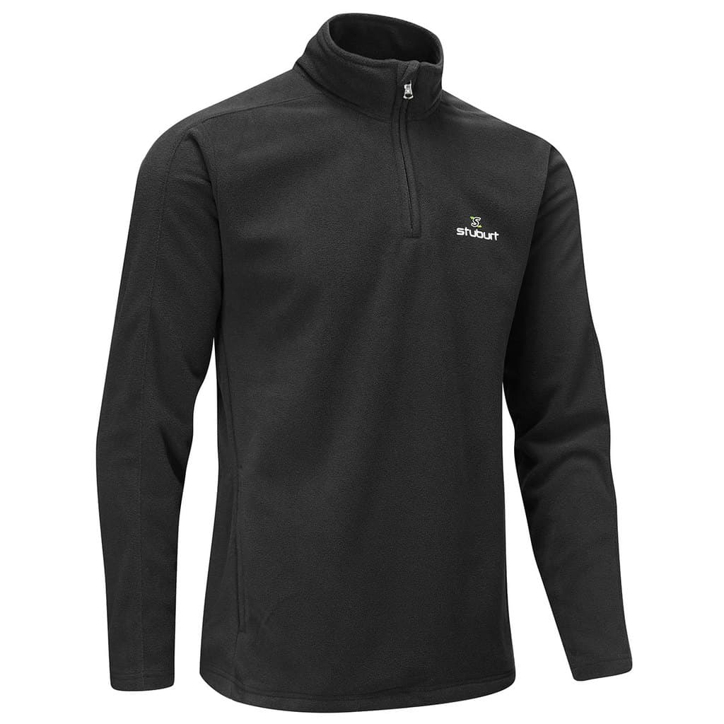 STUBURT URBAN 1/4 ZIP THERMAL GOLF FLEECE - BLACK